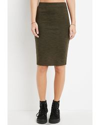 Forever 21 | Green Space Dye Bodycon Skirt | Lyst
