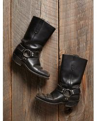 Free People - Black Vintage Engineer Boots - Lyst