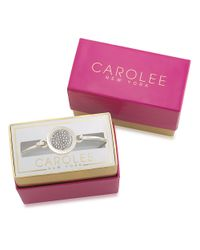 Carolee | Metallic Word Play Glam Girls Silvertone Bangle Bracelet | Lyst