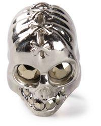Alexander McQueen | Metallic Punk Skull Ring for Men | Lyst