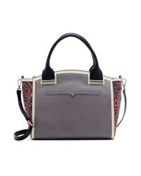 Vince Camuto - Gray Billy Dome Satchel - Lyst