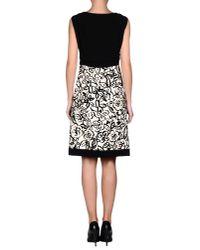 Moschino - Black Crepe And Velvet-Flocked Twill Dress - Lyst