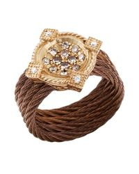 Charriol | Metallic Women'S Celtique Rose 18K Gold And Bronze-Tone Diamond .35Tcw Ring | Lyst