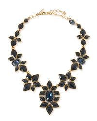 Oscar de la Renta | Blue Resin-Facet Necklace | Lyst