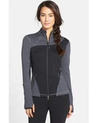 Zella | Gray 'into It' Colorblock Jacket | Lyst