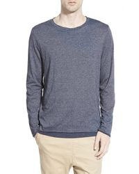 Threads For Thought | Blue Double Layer Crewneck T-shirt for Men | Lyst