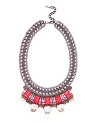 Karen Millen | Pink Statement Necklace | Lyst