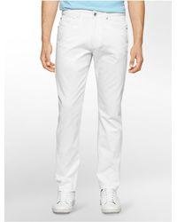 Calvin Klein - White Label Slim Fit 5-pocket Cotton Slub Pants for Men - Lyst
