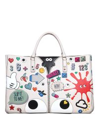 Anya Hindmarch - White Sticker Tote Bag - Lyst