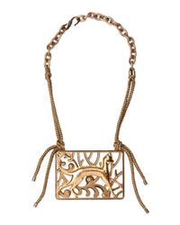 Lanvin | Metallic Brass Animal Necklace | Lyst