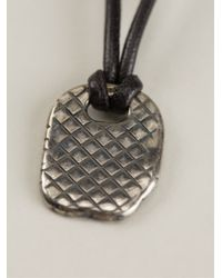 Bottega Veneta | Black Intrecciato Pendant Necklace for Men | Lyst