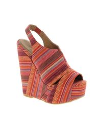 Chinese Laundry | Multicolor Tone Heeled Wedge | Lyst