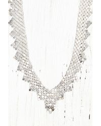 Free People - Metallic Vintage Silver Chainmail Necklace - Lyst