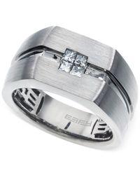 Effy Collection - Metallic Effy Men's Diamond (1/3 Ct. T.w.) Accent Ring In 14k White Gold - Lyst