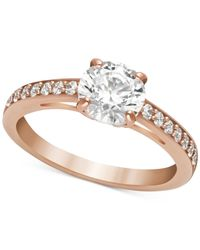 Swarovski | Metallic Rose Gold-tone Crystal Ring | Lyst