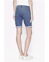 French Connection - Blue Comfort Stretch Denim Shorts - Lyst