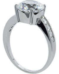 Carat* | White Round Brilliant 2.5ct Solitaire Ring | Lyst