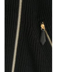 Burberry Brit - Wool-cashmere Cardigan With Shearling - Black - Lyst