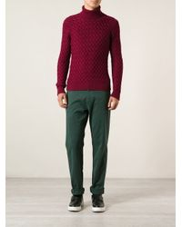 MSGM - Green Classic Chino Trousers for Men - Lyst