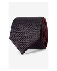 Express | Purple Reversible Slim Silk Tie - Ink Blue for Men | Lyst
