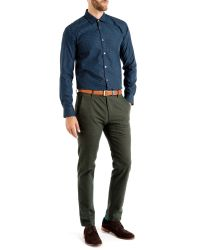 Ted Baker | Blue Targetz Circle Print Shirt for Men | Lyst