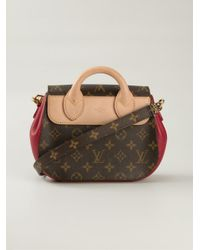Louis Vuitton - Brown Monogram Print Satchel - Lyst