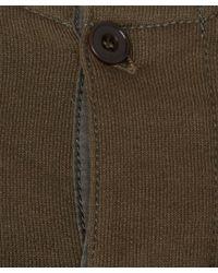Lemaire - Natural Khaki Henley Neck Cotton Sweatshirt for Men - Lyst