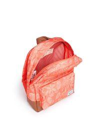 Herschel Supply Co. - Pink 'Heritage' Tropical Floral Print Kids Backpack for Men - Lyst