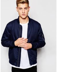 Jack & Jones | Blue Bomber Jacket for Men | Lyst