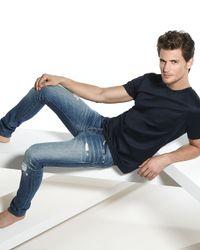 J Brand | Blue Mick Destructed Stretch Denim Jeans for Men | Lyst