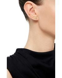 Sara Weinstock | Metallic Yellow Gold Diamond French Tulip Right Ear Wire Cuff | Lyst