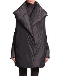 Donna Karan - Gray Oversized Down-filled Vest - Lyst