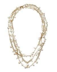 Rosantica - Metallic Chimera Extra-Long Multi-Strand Pearl Necklace - Lyst