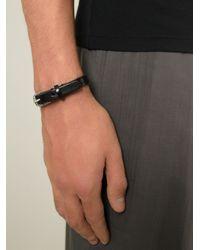 DIESEL | Black 'Amar' Bracelet for Men | Lyst