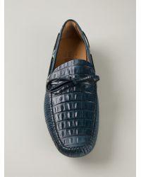 Car Shoe | Black Crocodile Skin Effect Loafers for Men | Lyst