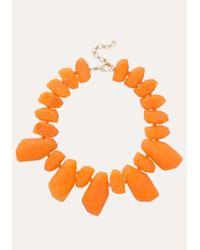 Bebe | Orange Resin Stone Necklace | Lyst