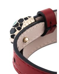 BVLGARI - Red 'serpenti' Wrap Bracelet - Lyst