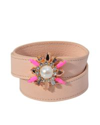 Shourouk | Metallic Triple Wrap Beedis Bracelet | Lyst