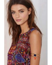 Nasty Gal | Multicolor From St Xavier Keely Lapis Arm Cuff | Lyst