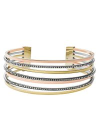 Michael Kors | Metallic Tri-tone Glitz Bangle Bracelet | Lyst