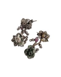 Wendy Yue - Multicolor Tsavorite Flower Earrings - Lyst
