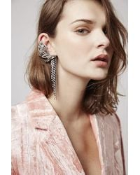 TOPSHOP | Pink Unique Bateman Earrings | Lyst