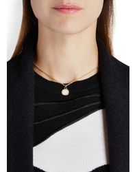 Marc By Marc Jacobs | Natural Logo Disc-o Cream Enamel Necklace | Lyst