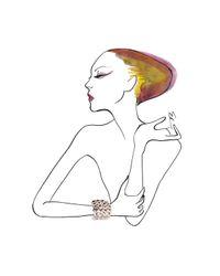Anndra Neen - Metallic Petal Cuff - Lyst