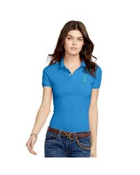 Polo Ralph Lauren - Blue Skinny-fit Big Pony Polo Shirt - Lyst