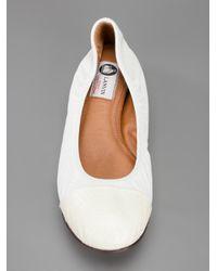 Lanvin - Natural Leather Ballet Flat - Lyst