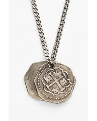 Miansai | Metallic Treasure Coin Pendant Silver Necklace for Men | Lyst