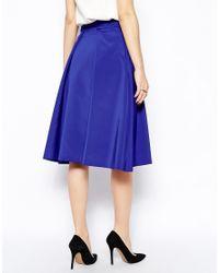 Coast - Blue Dionysus Midi Skirt - Lyst
