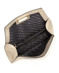 Diane von Furstenberg - 440 Gallery Uptown Metallic Lizard-embossed Leather Envelope Clutch - Lyst