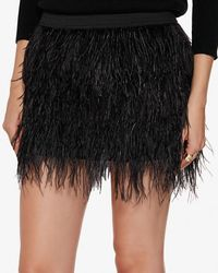 Michelle Mason | Black Feather Mini Skirt | Lyst